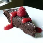 Flourless Chocolate Torte with Raspberry Sauce