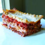 Roasted Red Pepper and Goat Cheese Lasagna