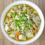 Kare Udon Soup with Tofu and Mushrooms