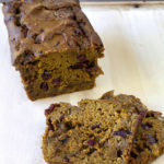 Pumpkin Bread with Dried Cranberries and White Chocolate