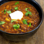 Chipotle Lentil and Bean Chili
