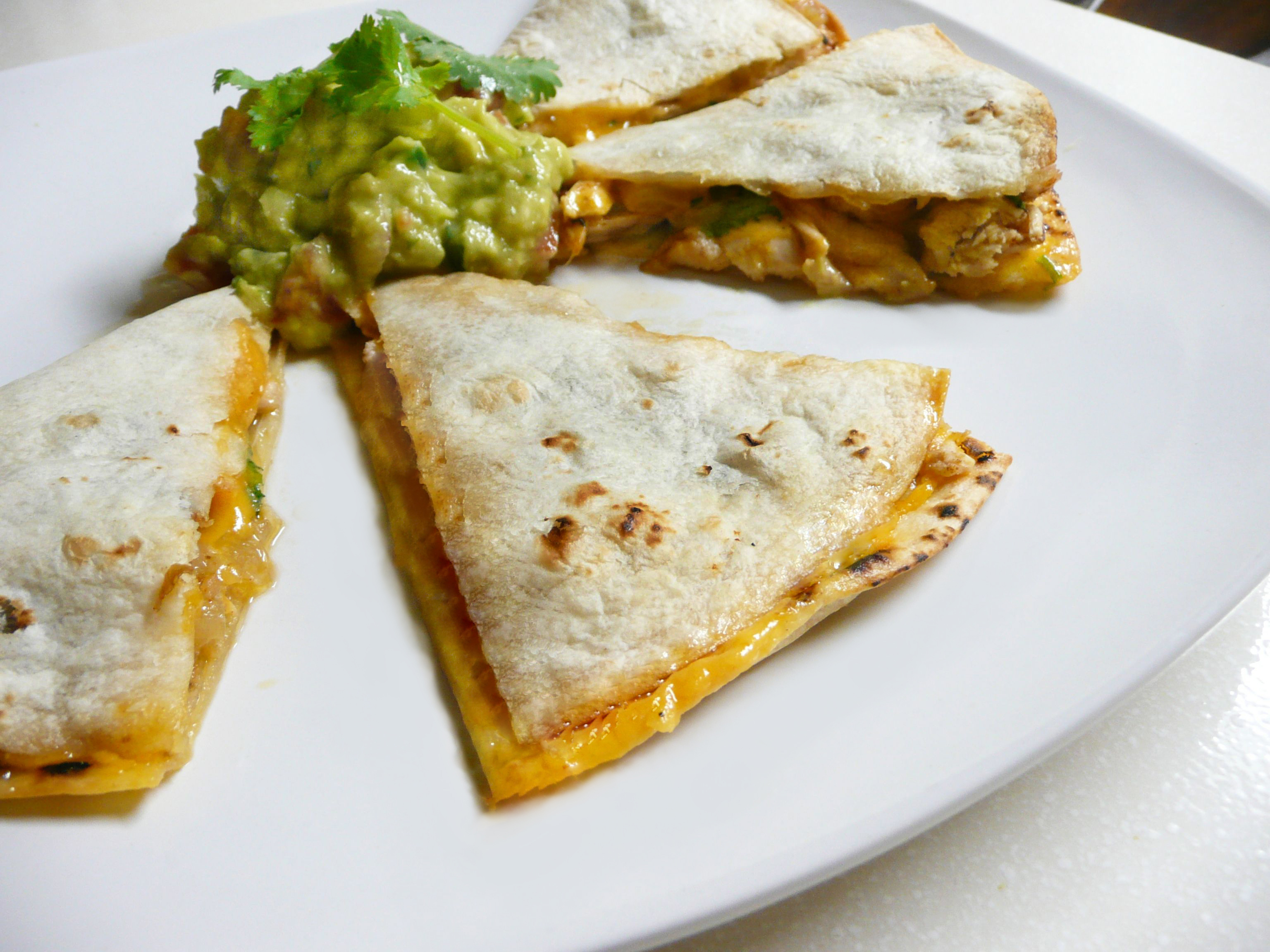 Chicken Quesadilla with Caramelized Onions - The Partial Ingredients