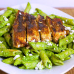 Pesto Pasta with Paprika Grilled chicken