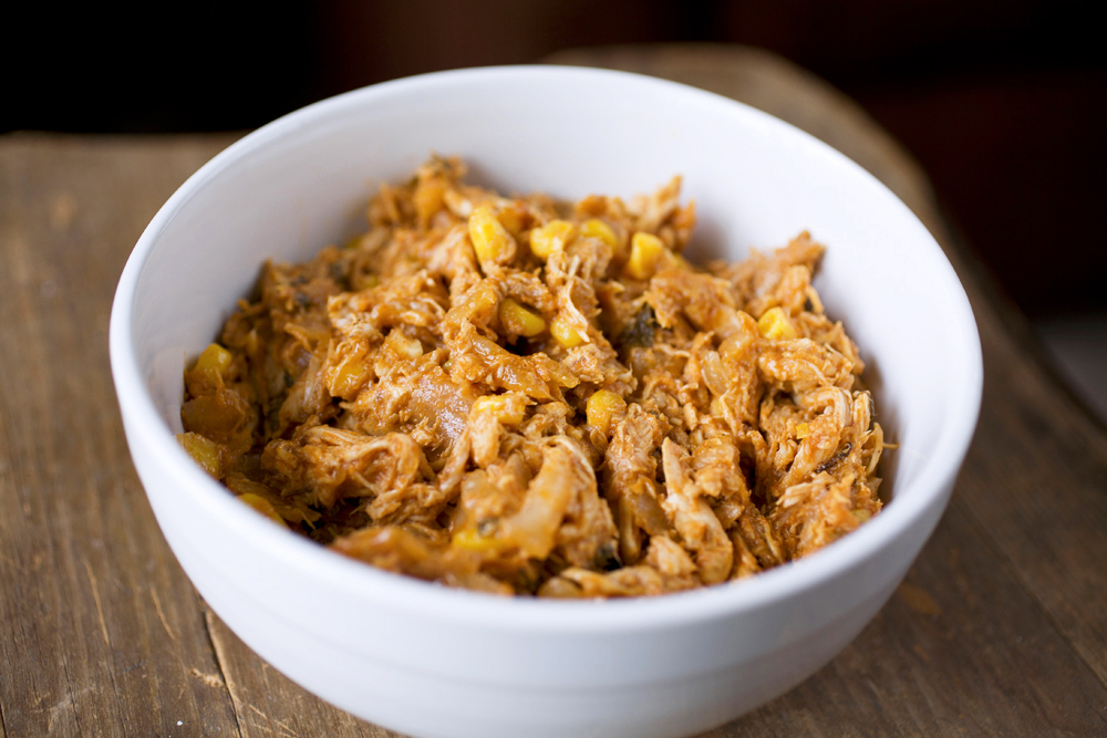 Tex-Mex Shredded Chicken with Sweet Corn | The Partial Ingredients