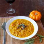 Pumpkin Soup with Pancetta and Sage