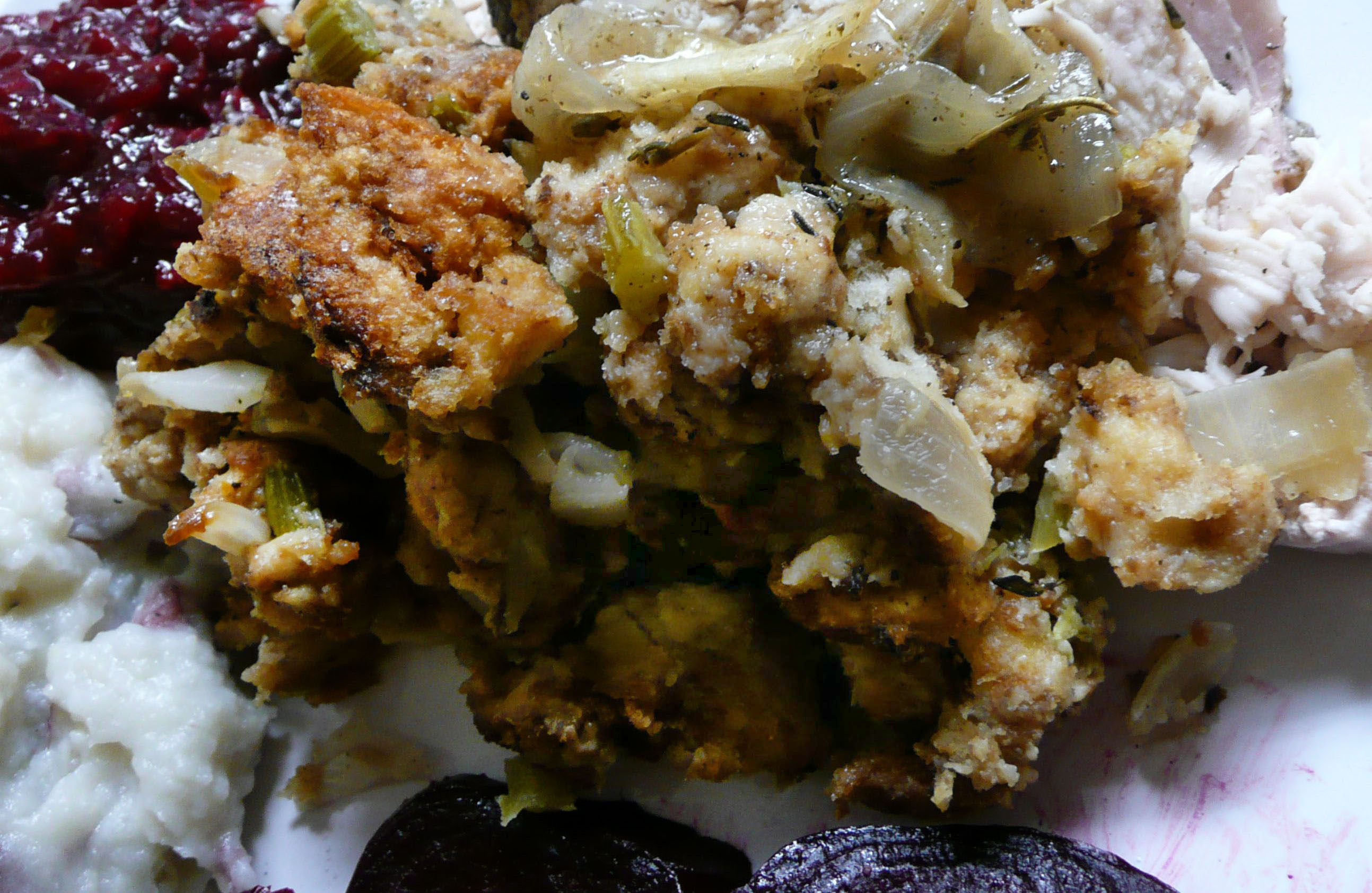 Baked Bread Stuffing with Sage
