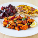 Moroccan Roasted Sweet Potatoes