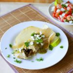 Cochinita Pibil Tamales with Roasted Tomatillo Salsa and Queso Fresco