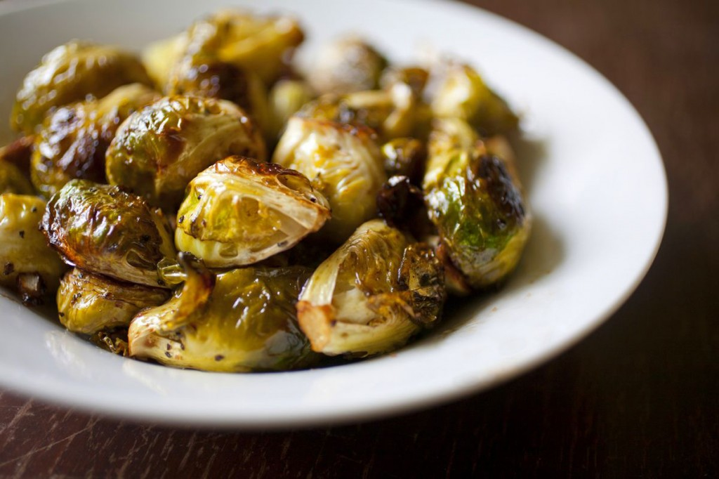 Garlic and Balsamic Roasted Brussel Sprouts | The Partial Ingredients