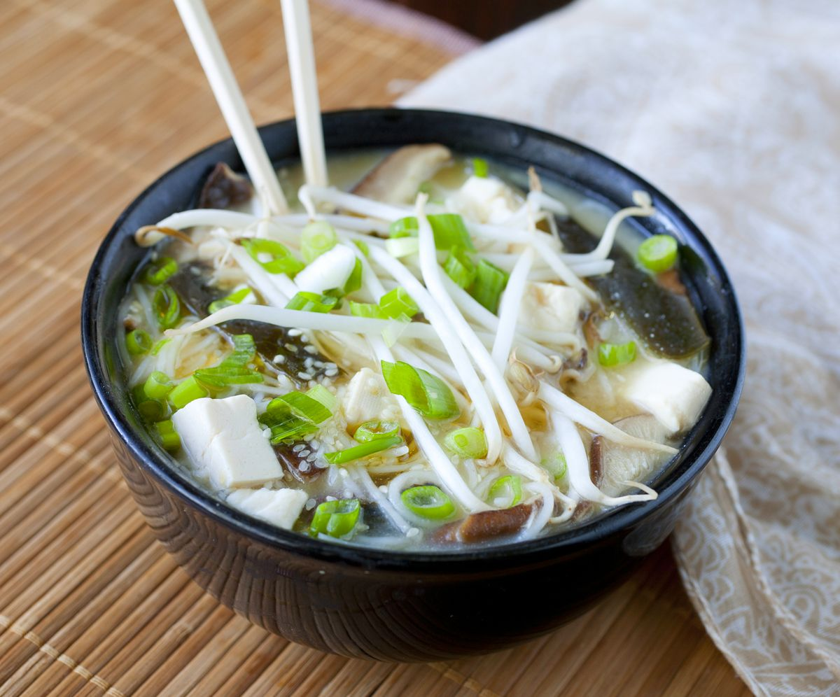 Tofu and Wakame Miso Soup