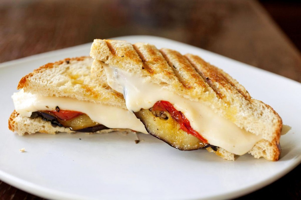 Grilled Eggplant Panini with Roasted Tomatoes and Olive Tapenade | The ...