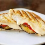 Grilled Eggplant Panini with Roasted Tomatoes and Olive Tapenade