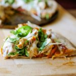 Vietnamese Lemongrass Chicken Pizza with Cashew Butter Sauce