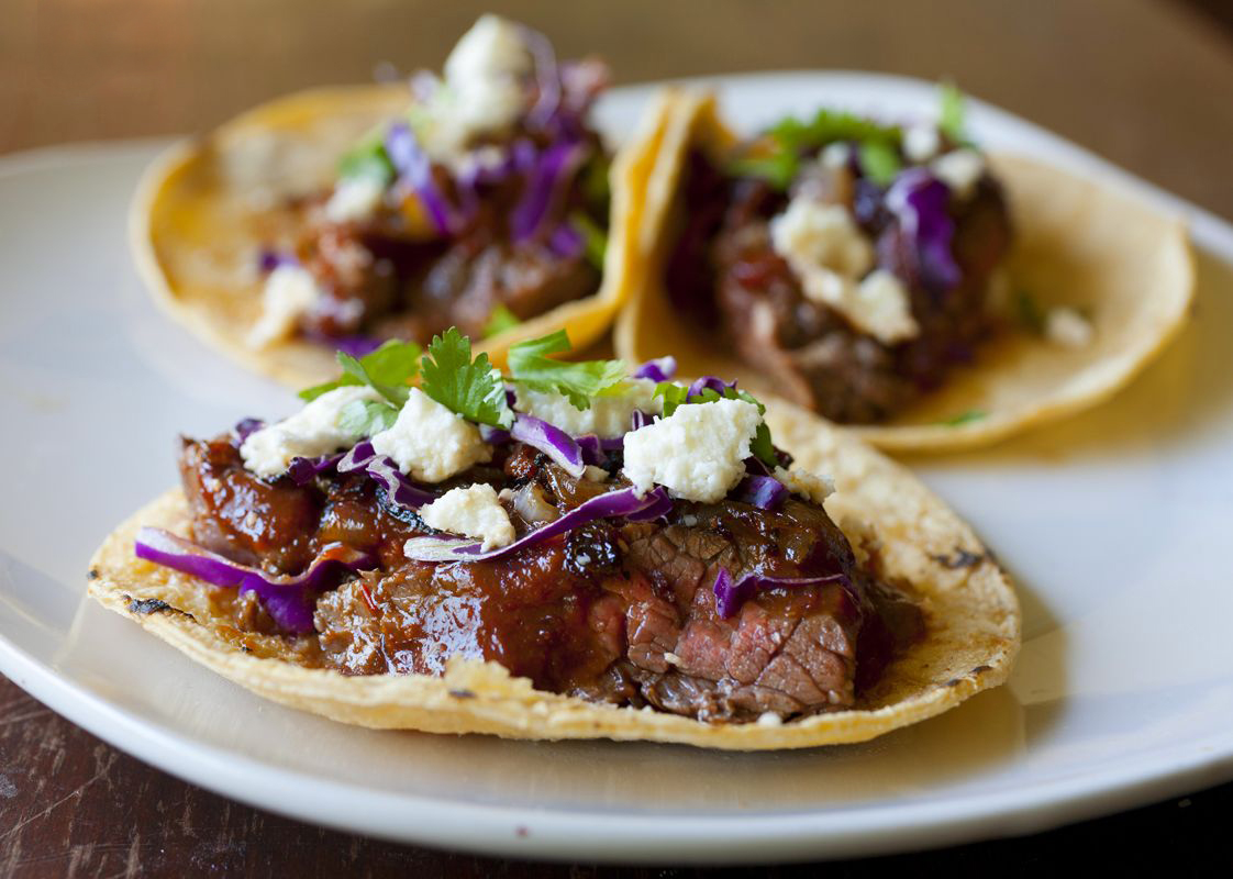 Duck Tacos With Chipotle Cherry Salsa And Goat Cheese Recipes ...