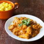 Sri Lankan Pork Curry with Yellow Rice