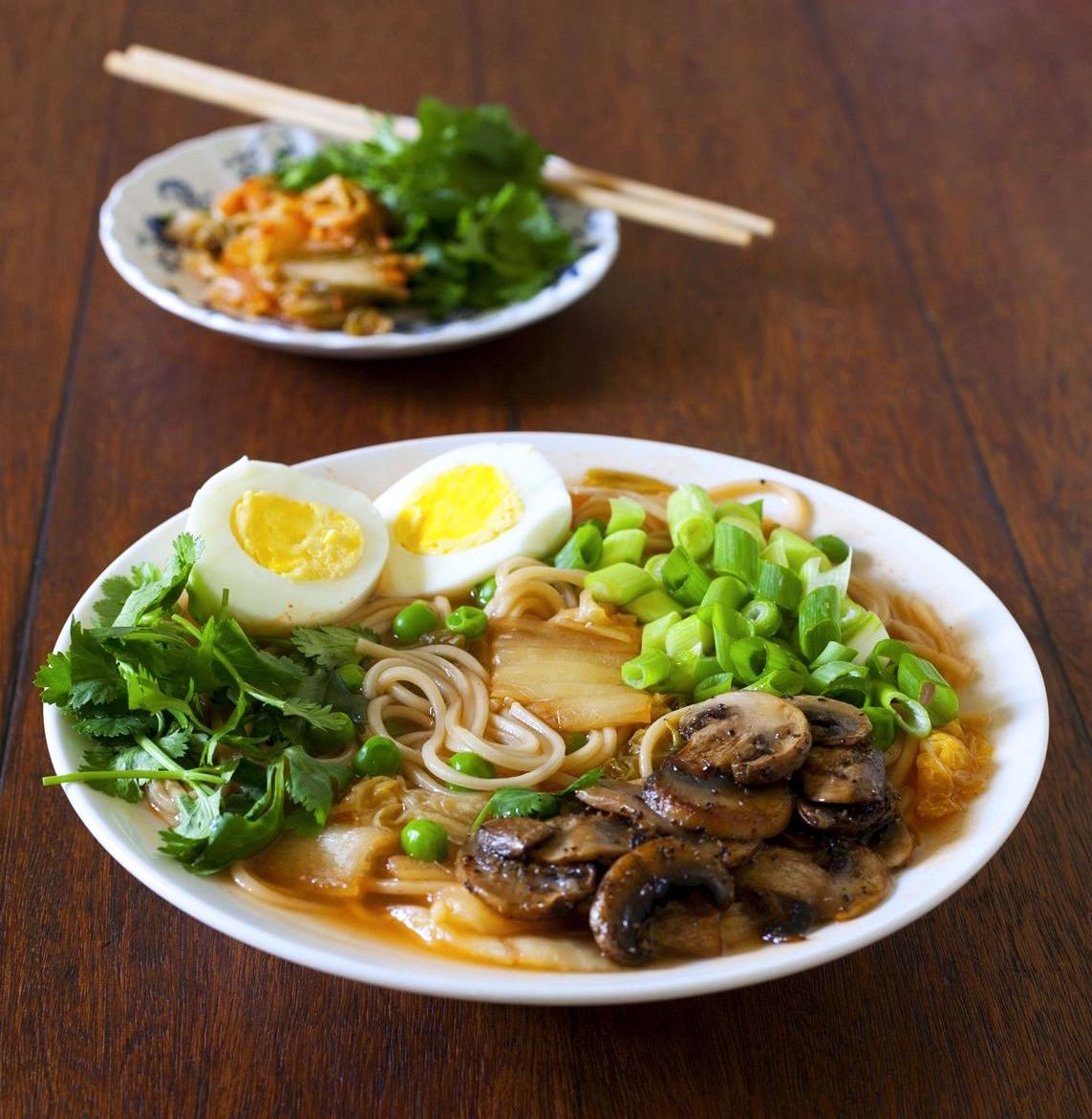 Korean Ramen with Kimchi and Sauteed Mushrooms - The ...