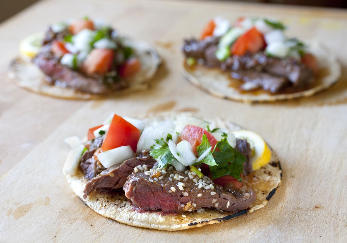Korean Kalbi Beef Tacos with Cilantro Lime Salsa - The Partial ...