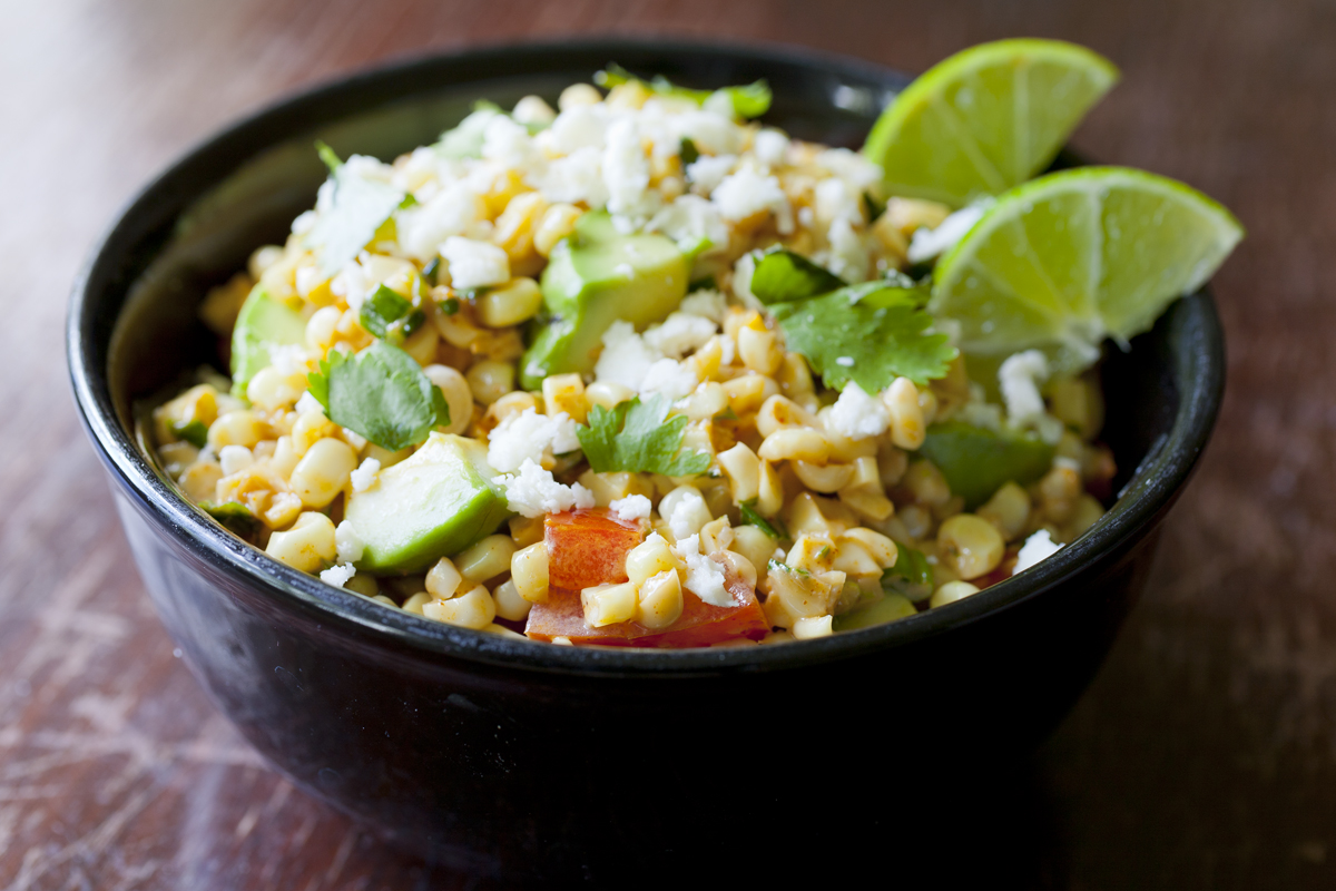 Corn Esquites Salad with Avocado (Mexican Roasted Corn Salad)