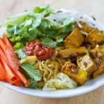 Vietnamese Rice Noodle Salad with Curry Lemongrass Tofu