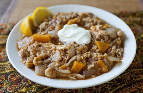 Chicken and Butternut Squash Stew with Preserved Lemon
