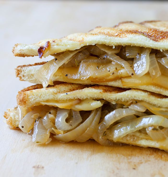 French Onion Soup Grilled Cheese Sandwich - The Partial Ingredients