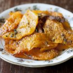 Baked Butternut Squash Chips with Sage