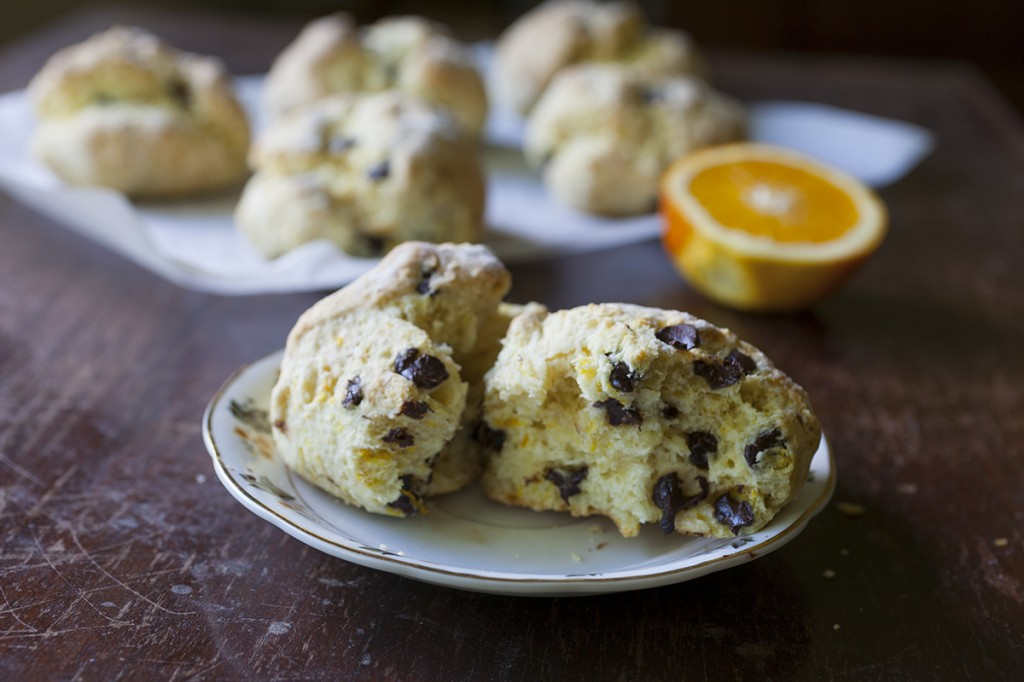 Orange And Dark Chocolate Buttermilk Scones Recipe — Dishmaps