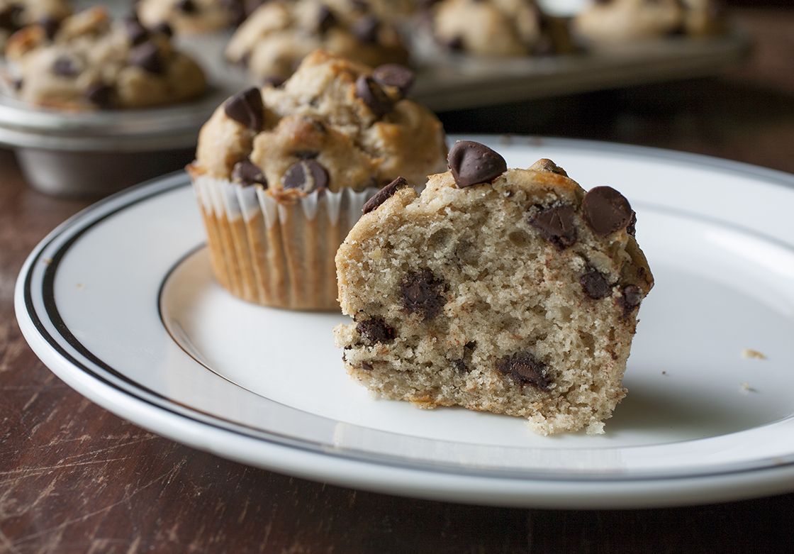 Banana Chocolate Chip Muffins - The Partial Ingredients