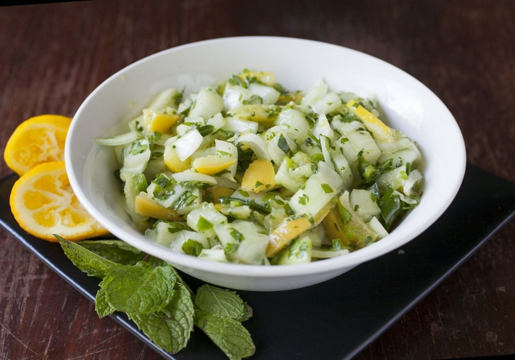 Preserved Lemon and Mint Salsa