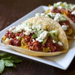Moroccan Chicken Tacos With Harissa Salsa and Goat Cheese