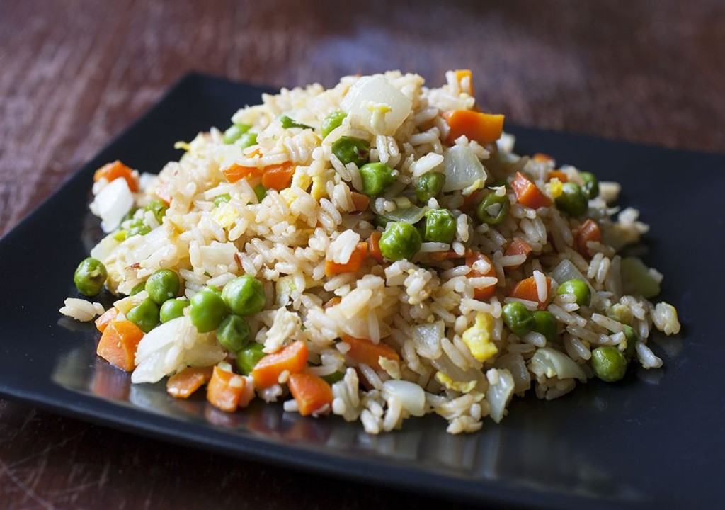 Egg Fried Rice - The Partial Ingredients