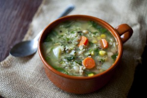Turkey Sausage and Wild Rice Soup