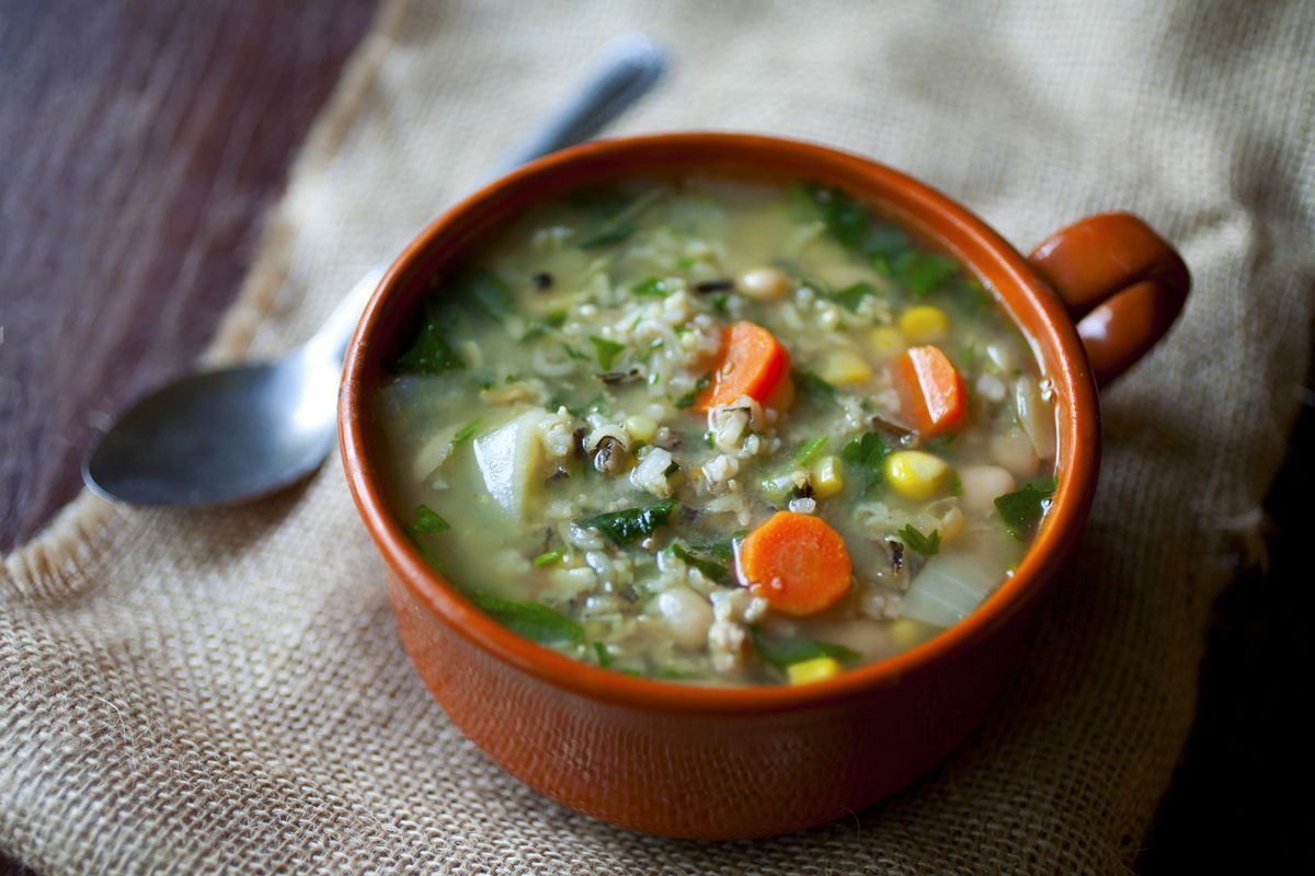 Creamy Navy Bean, Mushroom And Wild Rice Soup Recipe ...
