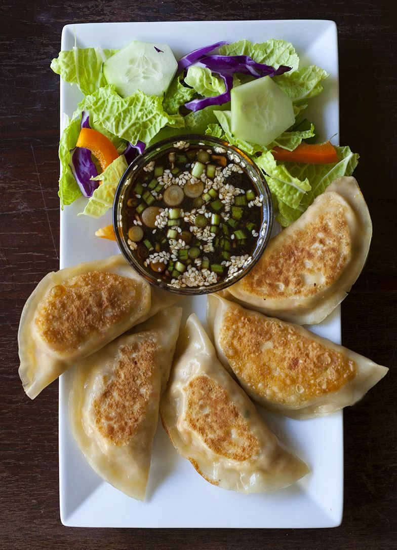 in tofu dumplings white wrapped kimchi with persimmon and dates from ...