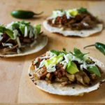 Roasted Chicken Tacos with Chipotle Salsa and Oaxaca Cheese