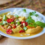 Thai Red Curry with Chicken and Peanuts
