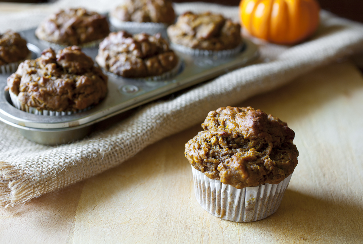 Banana, Oats & Pumpkin Breakfast Muffins 2