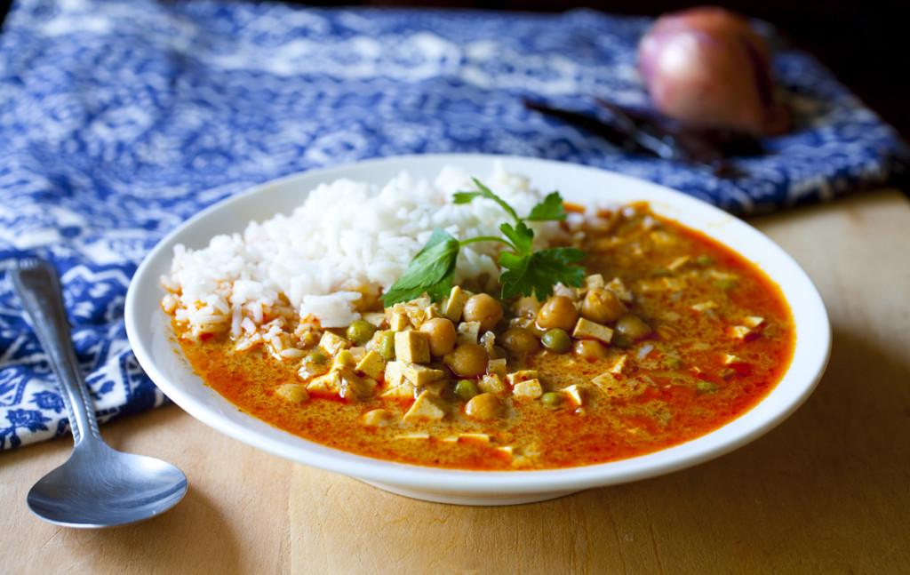 Tofu and Chickpea Massaman Curry
