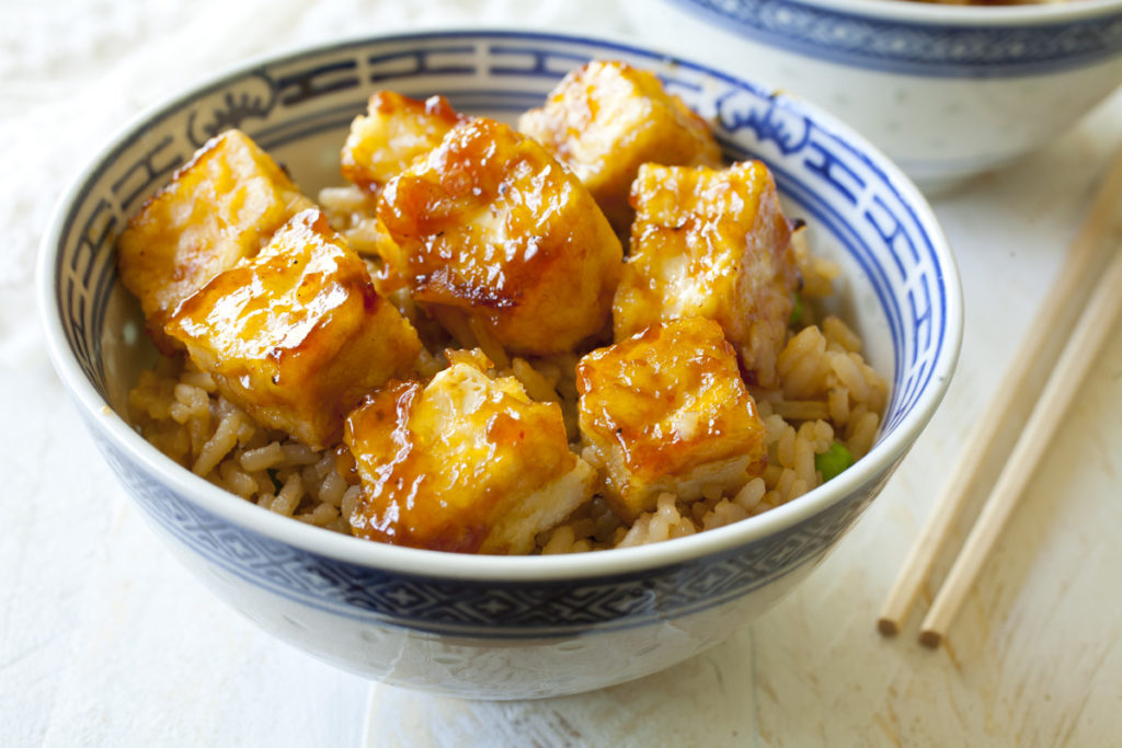 Sweet & Sour Tofu and Rice Bowls