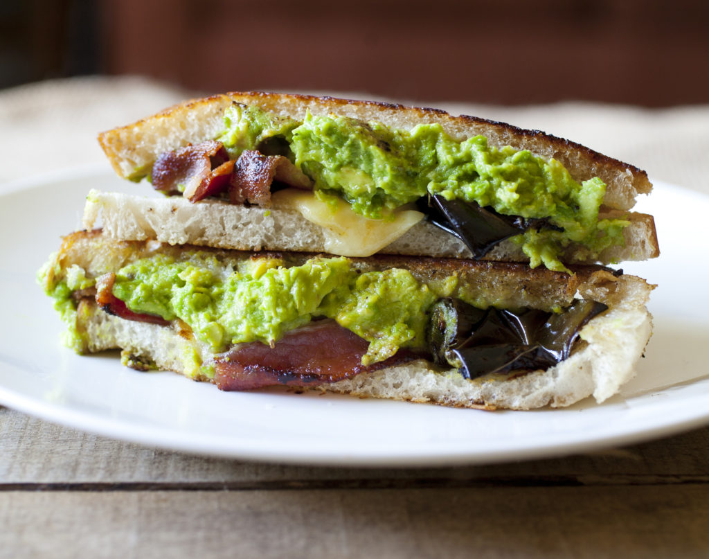 Bacon, Avocado and Roasted Jalapeno Sandwich
