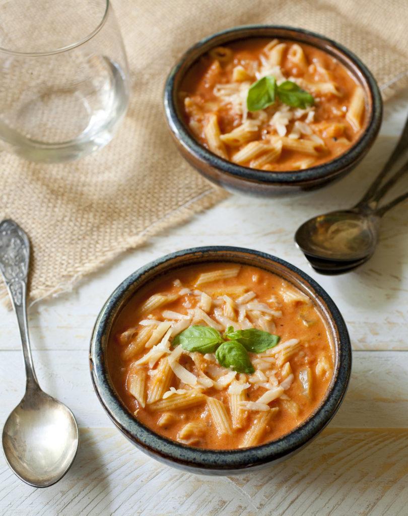Penne Vodka Roasted Tomato Soup