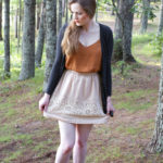 Feeling Autumnal: Rusty Orange Top & Tea Skirt