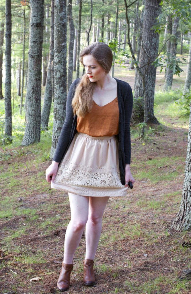 Rust Orange & Tea Skirt