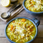 'Flu Fighting' Lemon Chicken & Rice Soup with Chickpeas