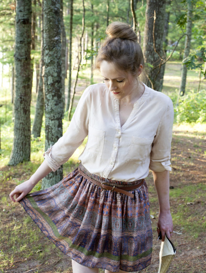 Button Down & Paisley Skirt - Partial Ingredients