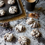 Dark Double Chocolate Crinkle Cookies